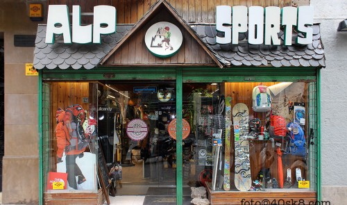 ALP Sports. Sports & Skate shop. Barcelona