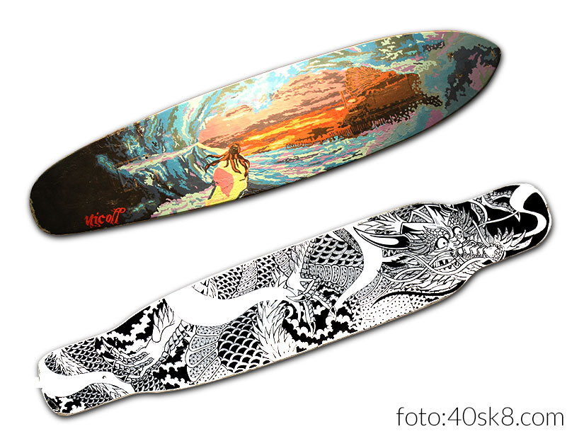 Papucho Nicoll longboards