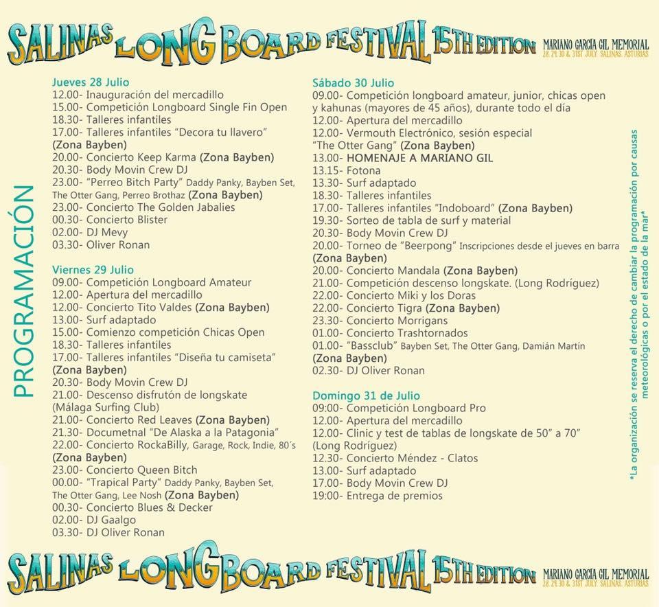 horario festival salinas longboard