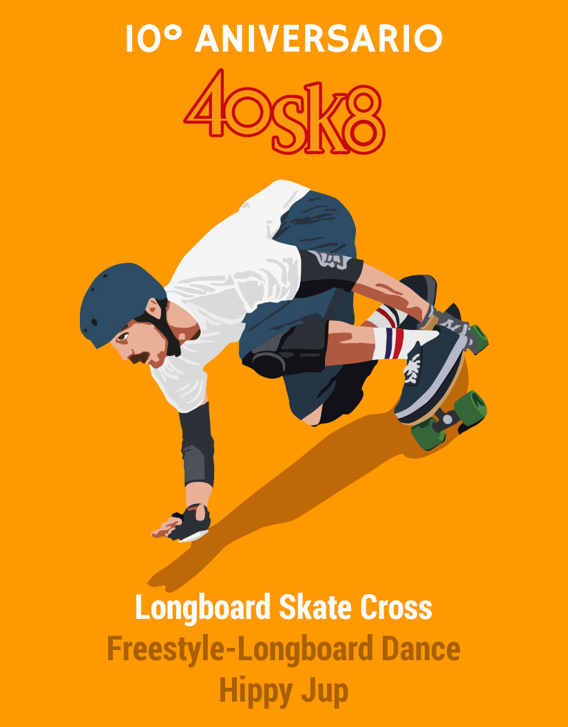 40sk8 longboard skate cross