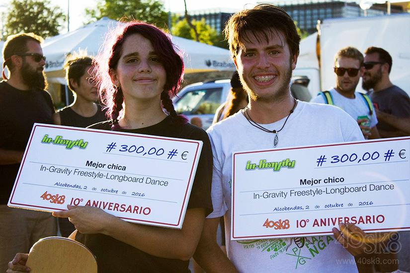 40sk8 10 aniversario premios in-gravity freestyle longboard dance