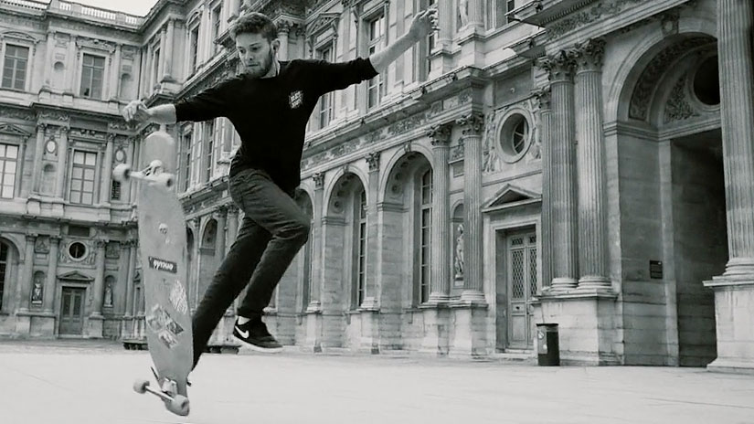Eduardo Campos longboard dance en París