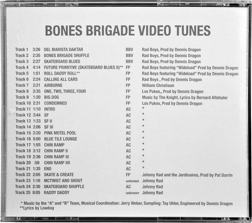 the bones brigade video tunes songs