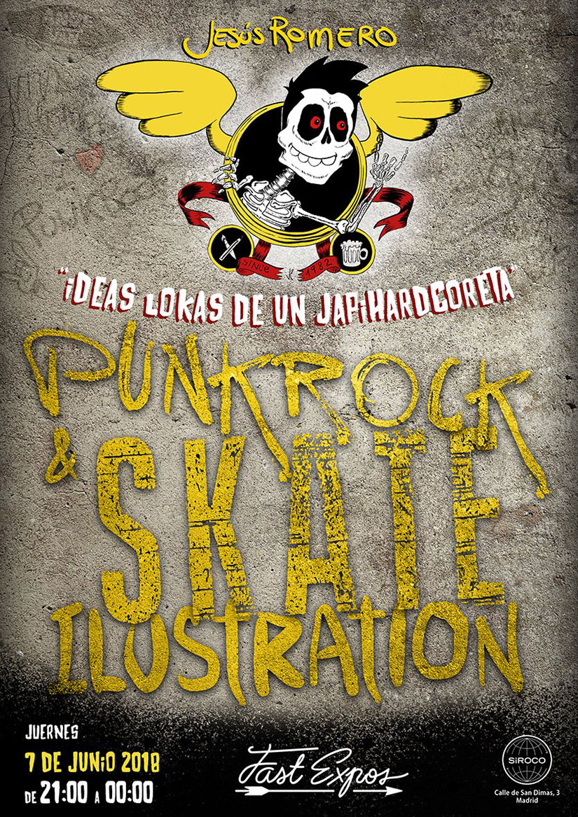 Exposicion Jesus Romero Punk Rock Skate