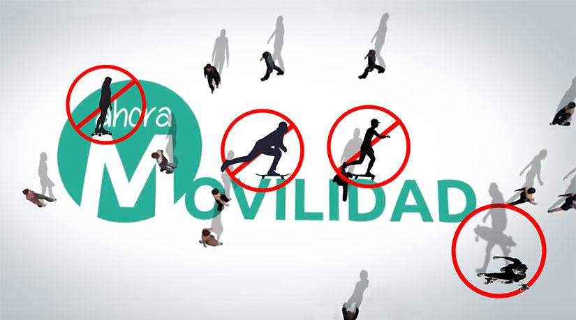 prohibir el skate en Madrid