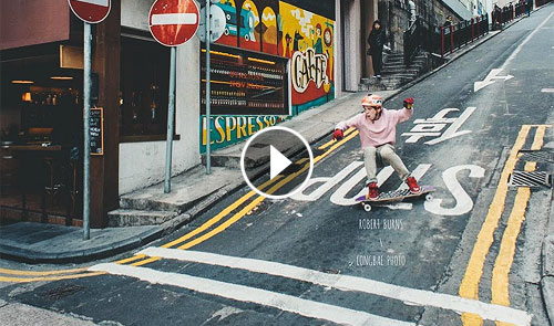 Video Robert Burns en Hong Kong con AHMYO Wheels