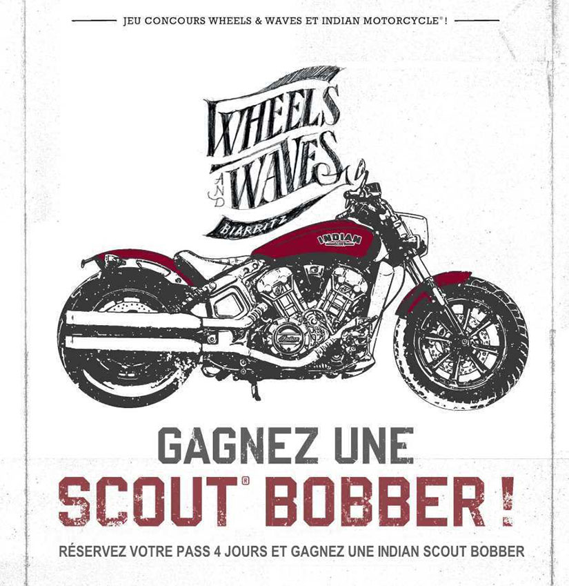 Wheels and Waves 2018 Sorteo INDIAN SCOUT BOBBER