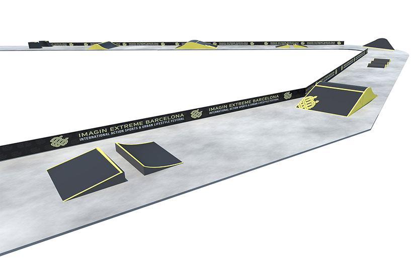 Longboard Cross Extreme Barcelona 2018 circuito