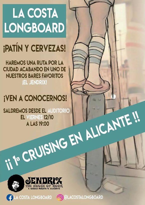 Cruising Alicante La Costa Longboard