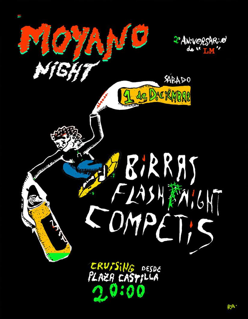 Moyano Night 2º Aniversario Longboard Madrid