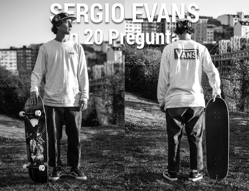 entrevista Sergio Evans en 20 preguntas