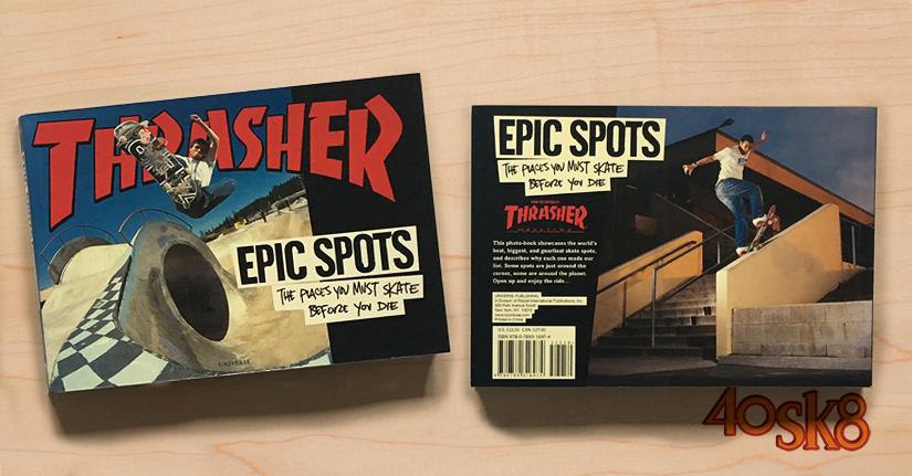 libro Thrasher epic spots portada y contraportada