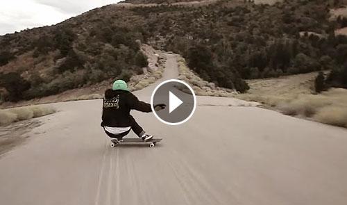 Tyler Howell downhill skateboarding en Utah Destacada