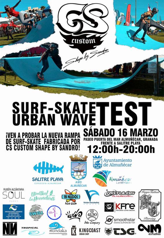 Surf Skate Urban Wave Test