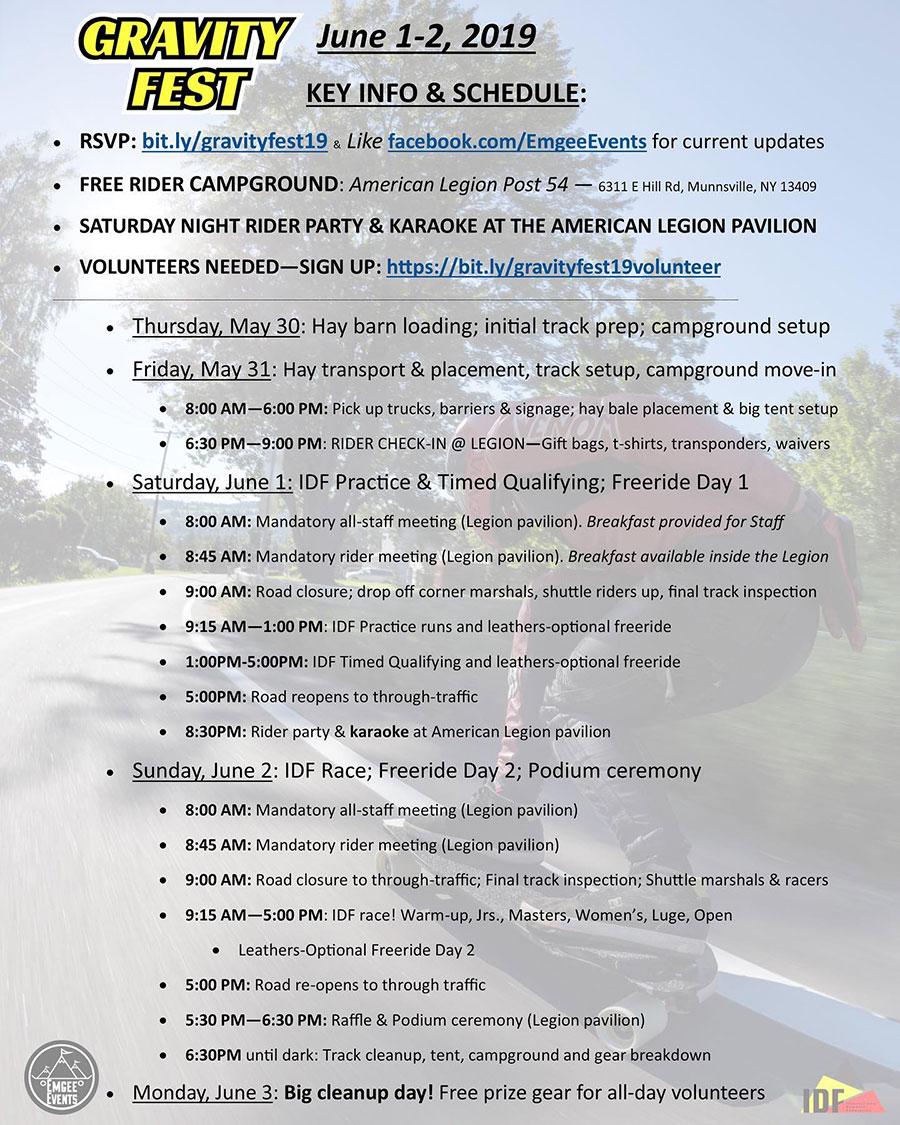 Gravity Fest IDF WQS 2019 DH Race & Freeride PROGRAMA