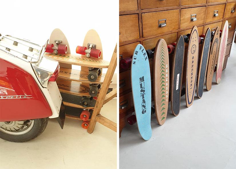 Colección de skateboards old school Ander Ormaetxea