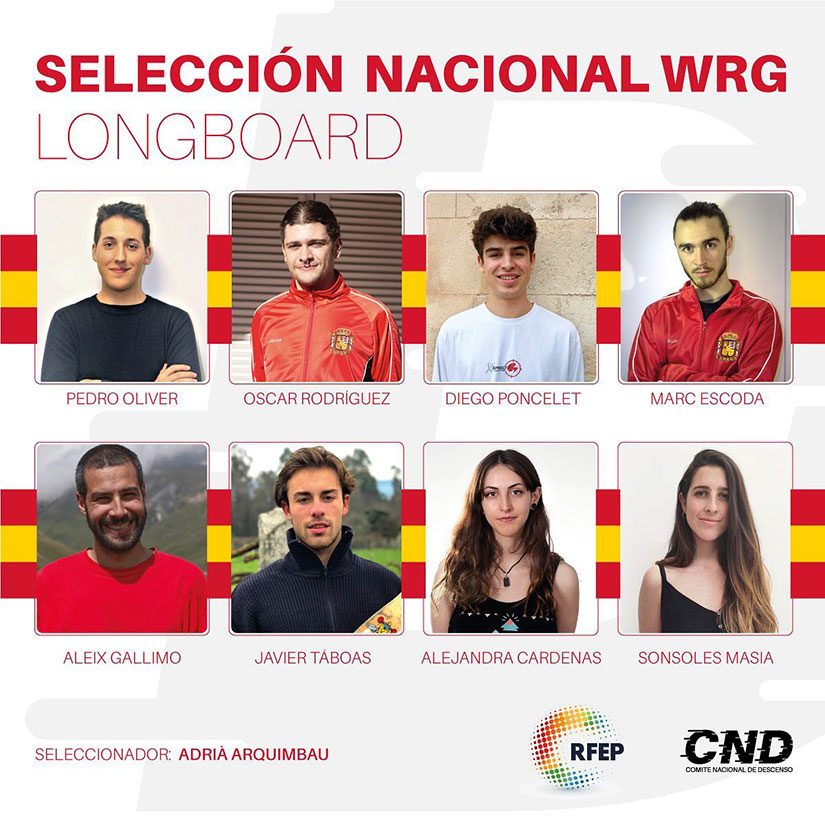 seleccion nacional longboard world roller games 2019