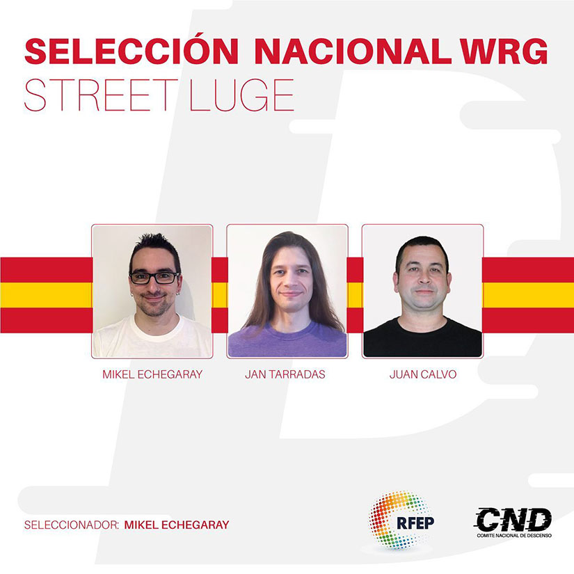 seleccion nacional street luge world roller games 2019