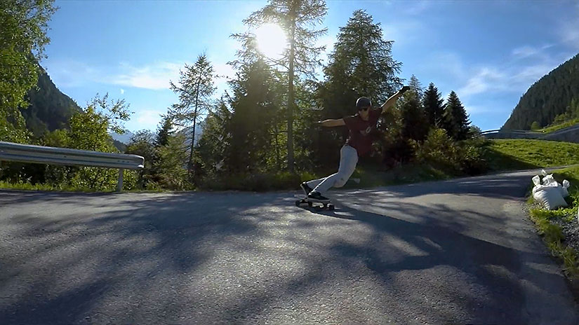 Simon Lechner longboarding en Austria