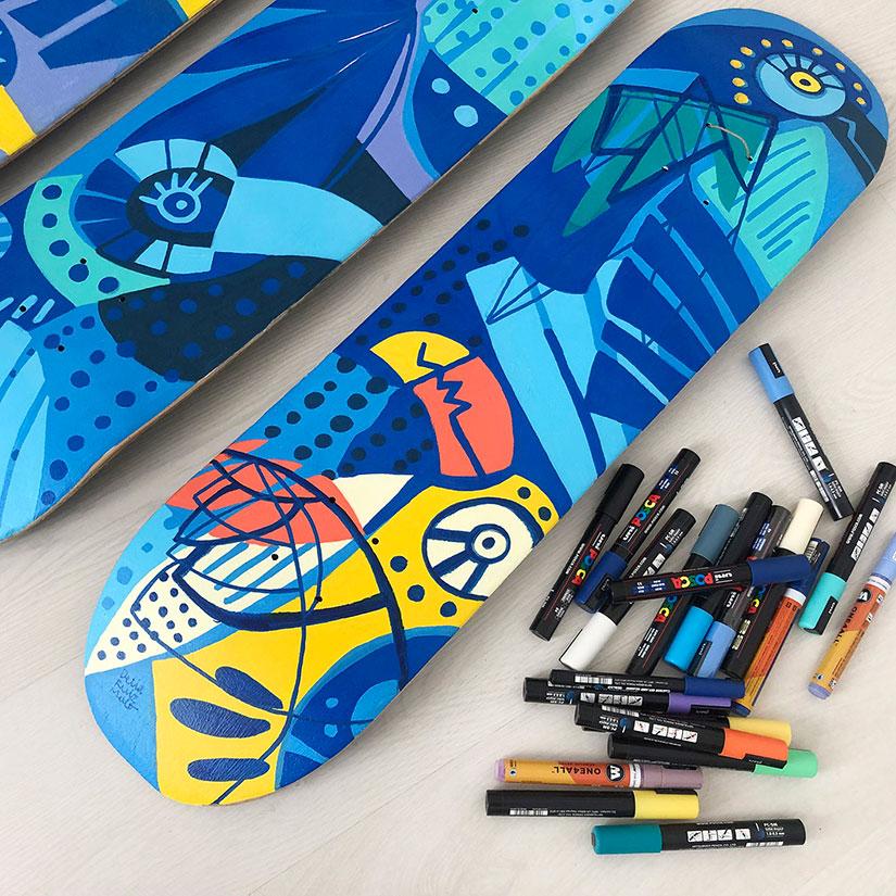 Skate or illustrate-Exposicion de Delia Ruiz Malo en State