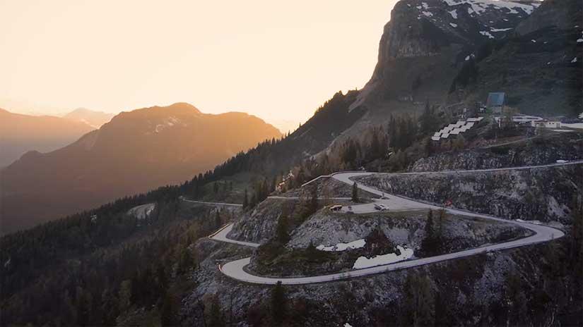 Loser Mountain Freeride longboard downhill en los alpes austriacos