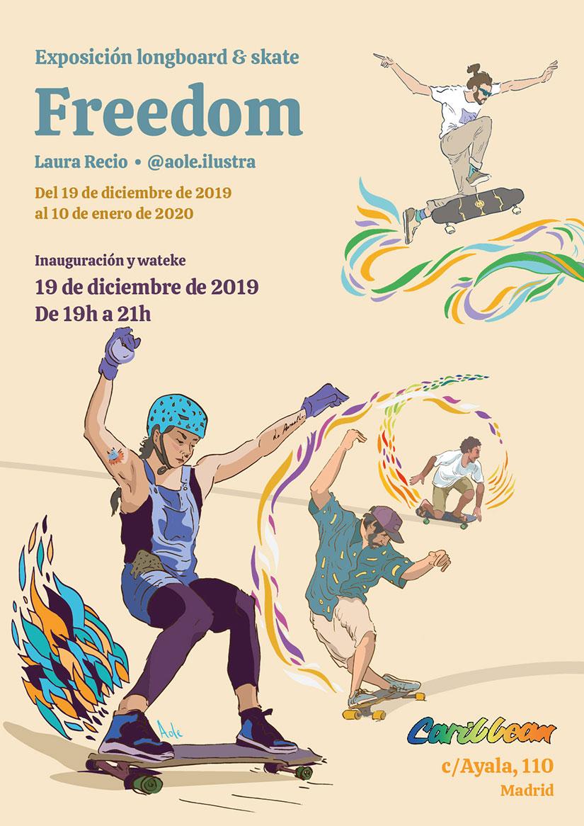 Cartel Freedom exposicion de Laura Recio en Caribbean