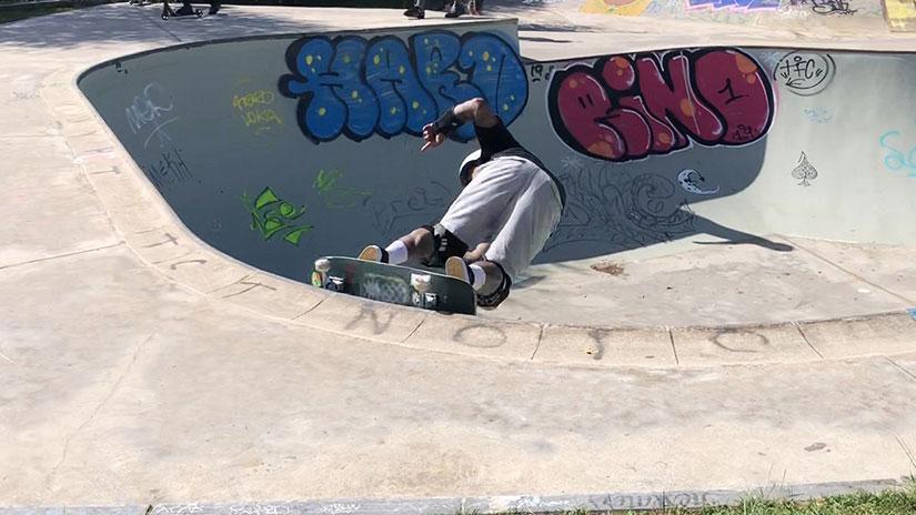 Doug Saladino en el skatepark de San Sebastián