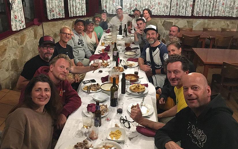 Killer 50-50 cena en el restaurante de Borja Martinez Etxebarria