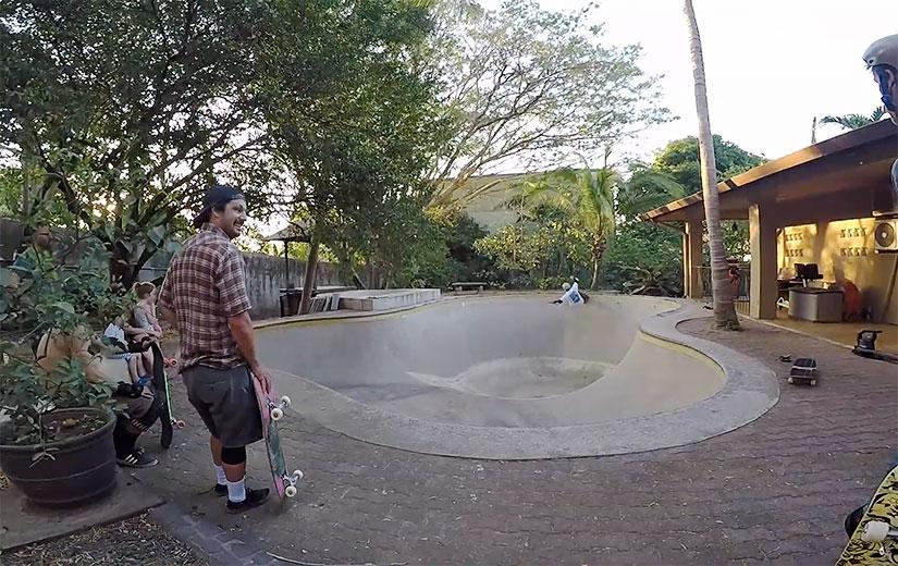 Skate pool session en Guanacaste Costa Rica