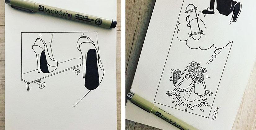 Kike Koletadeth skate e ilustracion