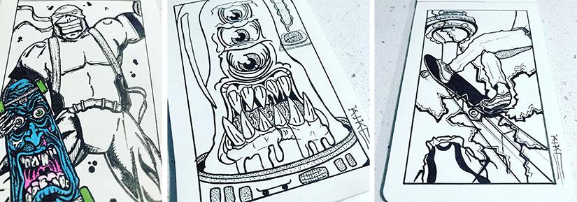 Kike Koletadeth skate e ilustracion Toxic Rider