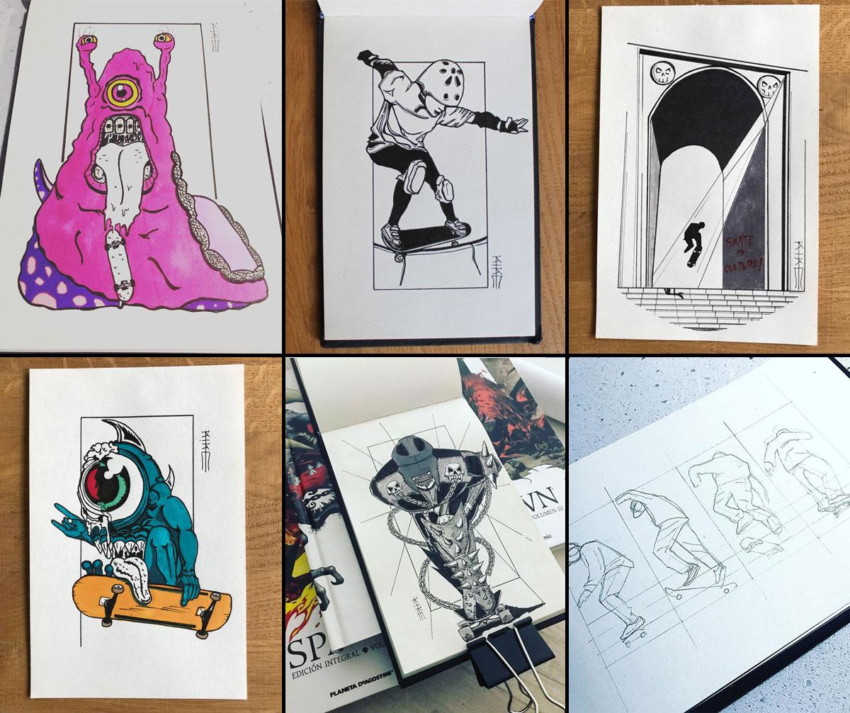 Kike Koletadeth skate e ilustracion Selección